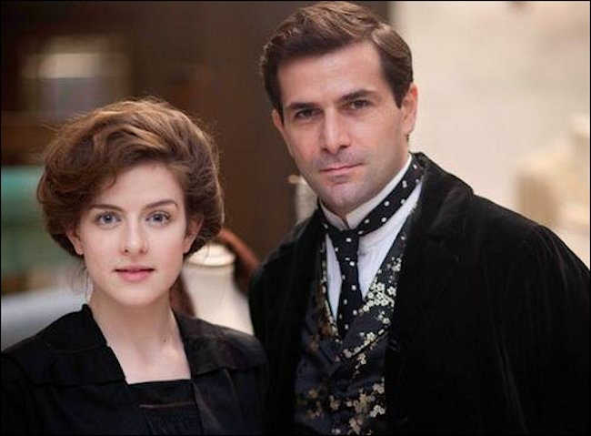 The beautiful actress Agnes Towler plays the character Agnes Towler in the TV drama Mr Selfridge
