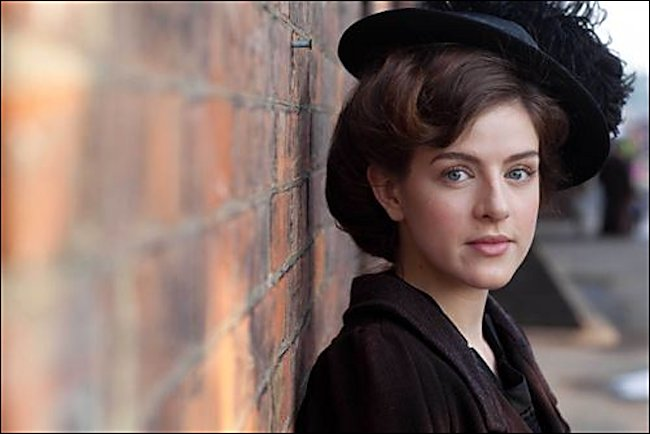 Shop assistant Agnes Towler is played by actress Aisling Loftus in TV period drama Mr Selfridge