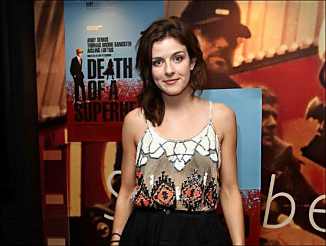 actress Aisling Loftus in death of a super hero