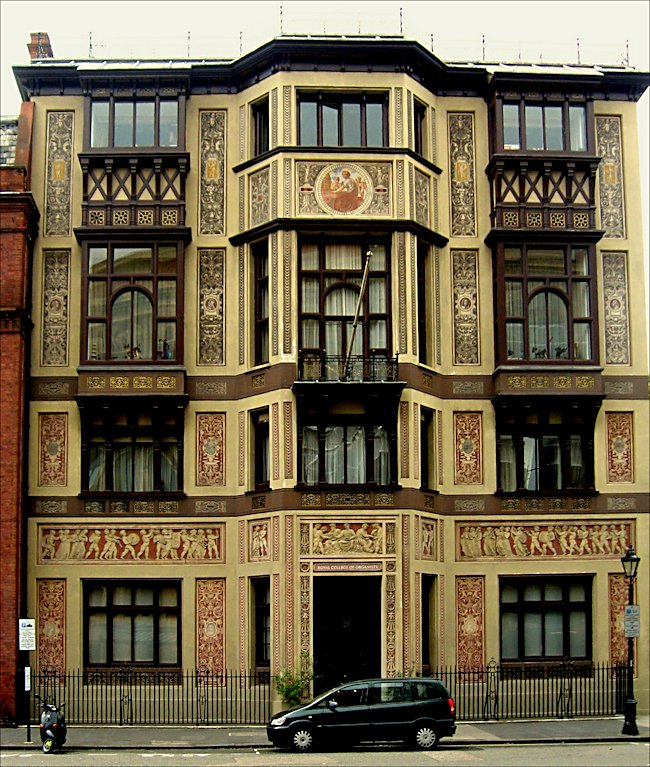 The exterior of mr selfridges house was shot at the royal collage of